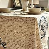 KerRone (TM) Vintage corona toalha lino mantel de toalla de gamuza de mesa café mesa auxiliar SHABBY CHIC casa decoración de mesa, 60*60cm