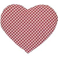 Kirschkernkissen Herz | ca. 30x25cm rot-weiß | Wärmekissen | Körnerkissen | Ein charmantes Geschenk preisvergleich bei billige-tabletten.eu