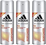adidas adipower Deo Body Spray für Herren, (3 x 150...