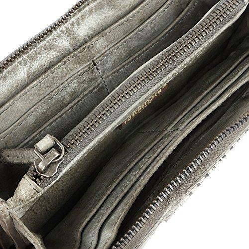 Taschendieb Wien Portafoglio pelle 20,5 cm light grey