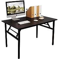 Need Klapptisch kleiner Computertisch Schreibtisch 100CM Klappbar und Montagefrei,Tisch aus E1 Holzwerkstoffen und…