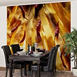 Apalis Vliestapete Küchentapete Chilly Climb Fototapete Quadrat | Vlies Tapete Wandtapete Wandbild Foto 3D Fototapete für Schlafzimmer Wohnzimmer Küche | Größe: 336x336 cm, gelb, 97548