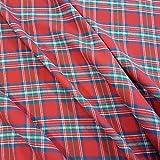 Stoff Meterware Baumwolle Schottenkaro rot grün blau