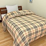 SS SALES Microfiber Burrybery Check Print Double Bed Dohar/AC Blanket