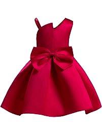 Ankoee Vestido Elegante Rojo y azul Boda Fiesta para Niña (2 a 10 Años)