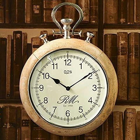 Riviera Maison - Wanduhr, Uhr - Pocket Watch - Uhr im nostalgischen Taschenuhr Design - Ø:45 cm