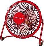 Orbegozo PW 1021 - Mini ventilador industrial de sobremesa, 10 cm, color rojo