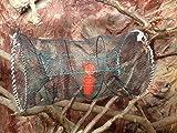 Nr.53 Fischreuse, Krebsreuse, Aalreuse, Köderfischreuse 50x120 cm - Faltbare Reuse - Inklusive Köderdose