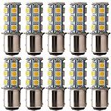 Er Everbright 10warm weiß 360lums 1157BAY15D 1016103475281157ein 2057Sockel 18SMD 5050LED Ersatz für Auto Glühbirnen Lampe Innen RV Camper Bremse Drehen Licht Lampe DC 12V