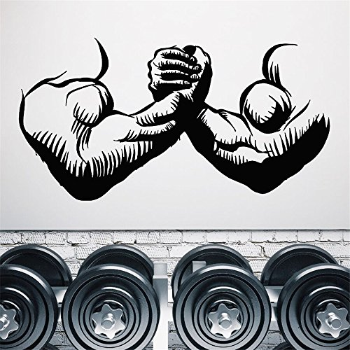 wandaufkleber spruch katze Gym Muskeln Mann Hände Bodybuilder schönen Körper für Fitness-Studio