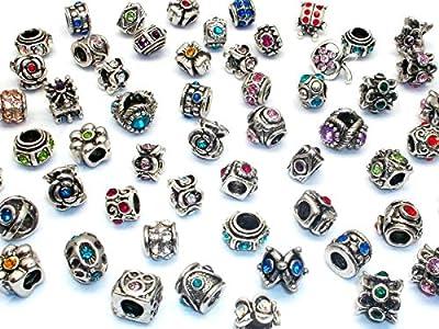 10x Mixto para tibetano Spacer perlas charms para Pandora Style Charm pulseras