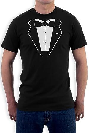 Tuxedo Printed Shirt - Fancy Dress Funny Novelty Joke Bow Tie Mens ...
