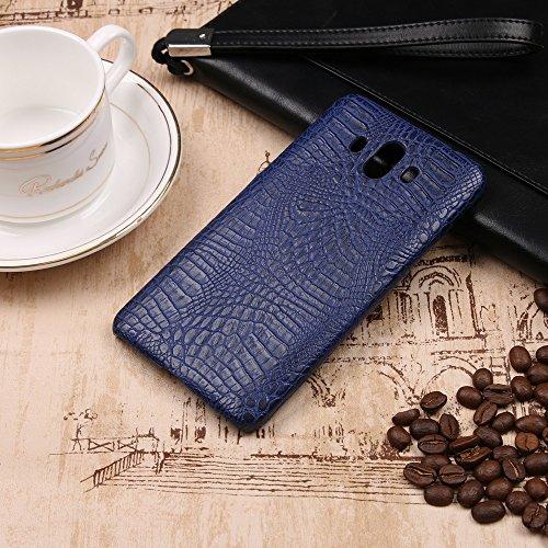 YHUISEN Huawei Mate 10 case, Luxury Classic Krokodilleder Muster [Ultra Slim] PU-Leder Anti-Scratch-PC Schutzhülle für Huawei Mate 10 ( Color : Pink ) Blue