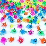 German Trendseller® - 50 x Ultra Stretchy - Neon Fische - für Kinder ┃ NEU ┃ Kindergeburtstag ┃ Mitgebsel ┃ Findet Glubschy Fische ┃ 50 Stück