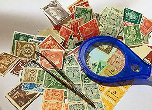 200-briefmarken-deutsches-reich-ein-briefmarkenalbum-eine-pinzette-und-eine-lupe-xxxx-large