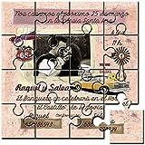 Invitación original para boda en puzzle (2,15€ unidad) Pack de 10 unidades