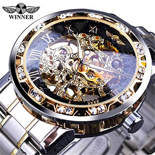 VICKY-HOHO T-Winner Fashion Hollow Luxury Design Business Fashion Herren Mechanische Uhr -