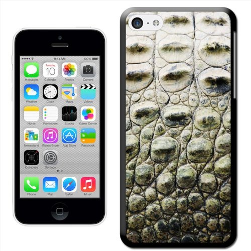 Fancy A Snuggle 'Peacock Extravaganza' Hard Case Clip On Back Cover für Apple iPhone 5C American Crocodile Skin
