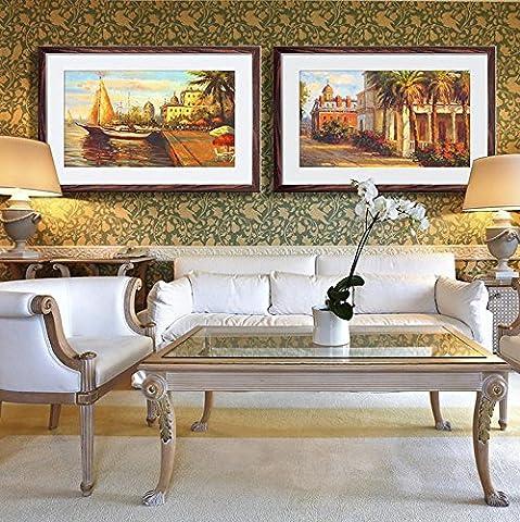 Continental Moderne Drucken Malerei Wohnzimmer Schlafzimmer Bett Hintergrund Dekoration Papier Malerei