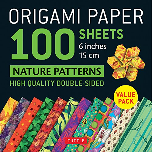 Origami Paper 100 sheets Nature Patterns 6 inch (15 cm) (Origami Paper Pack) por Tuttle Publishing