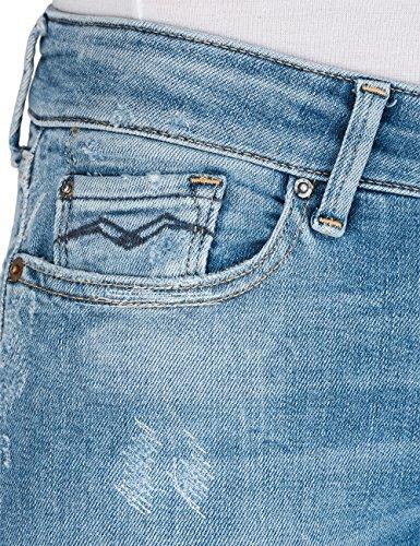 Replay Damen Skinny Jeans Luz Blau (Mid Light Blue 9)