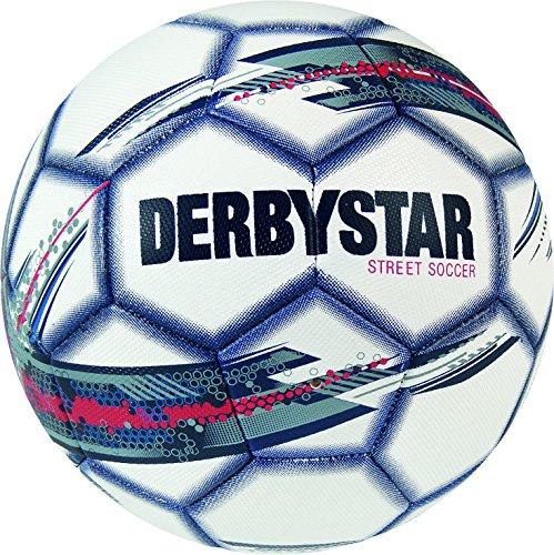 Derbystar Freizeit Fußball Street Soccer, Ball Größe 5 (410 g), weiß rot blau, 1531 (Köln Herren Klassische)