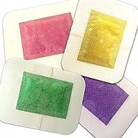 G-smart pulizia Detox Foot patch 4 cuscinetti con profumo di lavanda, rosa, Chili e tè verde, facile da applicare, 2-in-1