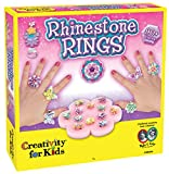 Creativity for Kids CFK1886 - Funkelnde Ringe, Kinder-Bastelset