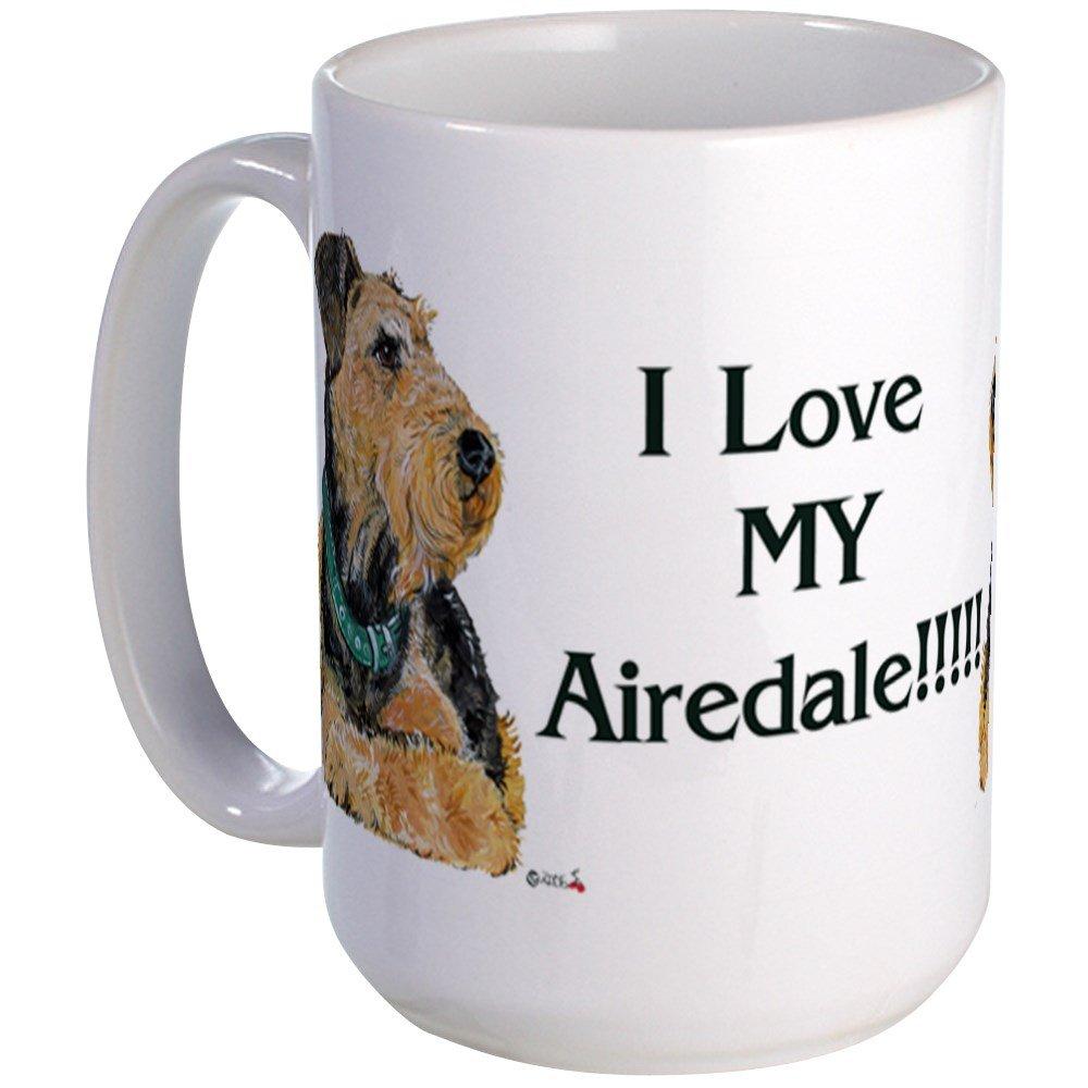 CafePress – I Love My Airedale!!! – Coffee Mug, Large 15 oz. White Coffee Cup