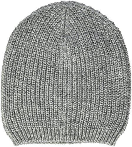 TOM TAILOR Denim Damen Basic Rib Beanie Strickmütze, Grau (Light Silver Grey 2973), One Size Rib Beanie