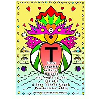 Lære engelsk Alfabet malebog med engle og feer For alle Børn Voksne Unge Pensionister ældre