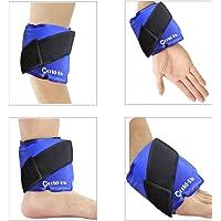 Sac de Gel de Glace Compresse Froide Chaude Poche de Glace Anti Douleur - Idéal pour la cheville, le genou, le poignet, le coude, la tête, la cuisse, le mollet, le pied - secourisme et soulagement