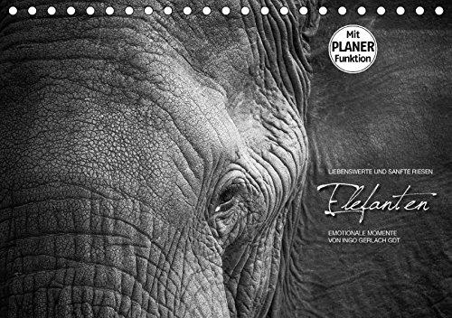 Emotionale Momente: Elefanten in black and white (Tischkalender 2017 DIN A5 quer): Liebenswerte und sanfte Riesen (Geburtstagskalender, 14 Seiten) por Ingo Gerlach GDT