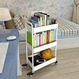 QQB %Mehrschichtiges Regal Rack kleiner Wagen mit runden einfachen Kinderzimmer Wohnzimmer Küche Lagerregal Finishing-Rack