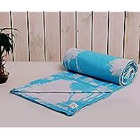 "Trance Home Linen Cotton Single Dohar 58"" x 90"" (Aqua Blue)"