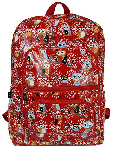 gfm-gloss-finish-pvc-oilcloth-waterproof-backpack-934-owl-ll-rucksack-for-school-college-gym-sports-