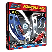 SIMM Spielwaren Darda 50106Racing Formula Red With Red Racing Cars 375cm long Track
