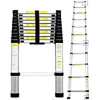 Todeco - Echelle Telescopique, Échelle Pliable - Charge maximale: 150 kg - Standards/Certifications: EN131 - 3,2 mètre(s), Sac de transport OFFERT, EN 131