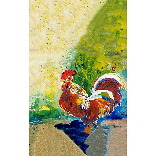 Betsy Drake Hahn Küche Handtuch, rot