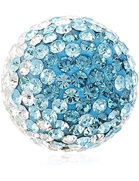 Engelsrufer Halskette Anhänger Kugel Kristall turquoise-white Medium ERS–06-zi-m