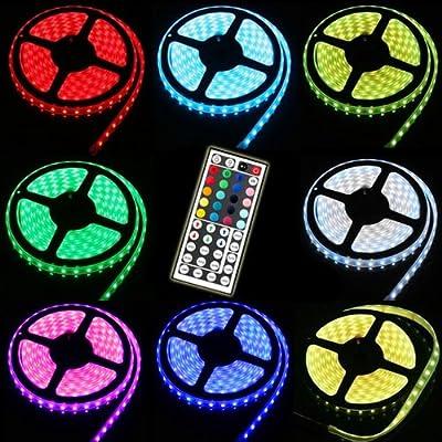 (PMS) 150 LED 5M RGB 5050 SMD Strip Streifen Wasserdicht mit 44 Tasten Fernbedienung Controller & Netzteil TrafoKostenlose Lieferung