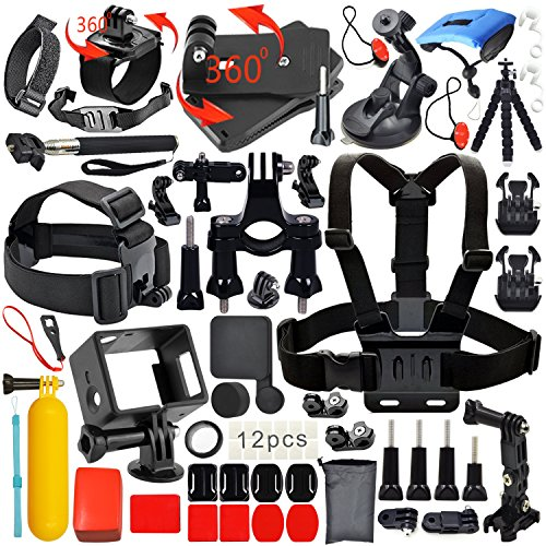 Erligpowht Kit di accessori per macchina fotografica per Gopro Bundle per sj4000/sj5000 /GoPro hero 4,per Gopro 3+ 3 2 1