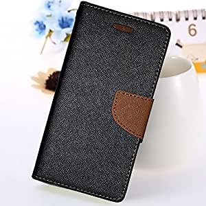 Mercury View Flip cover ( Black Brown ) With Tempered Glass For Moto G