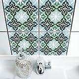 Boubouki Wasserabweisende Fliesenaufkleber RIMAL 04 für Bad und Küche | 15 x 15 cm