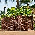 Hochbeet Gartenbeet Pflanzenbeet Beet aus Weide 100x40x40cm inkl. Pflanztasche von Noor bei Du und dein Garten