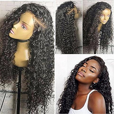 Helene Hair Charmant Vague Loose perruque Brésilien Virgin cheveux humains Cheveux sans colle complète Lace Wigs avec bébé cheveux pour les femmes noires 130% Densité ( 12 pouces)