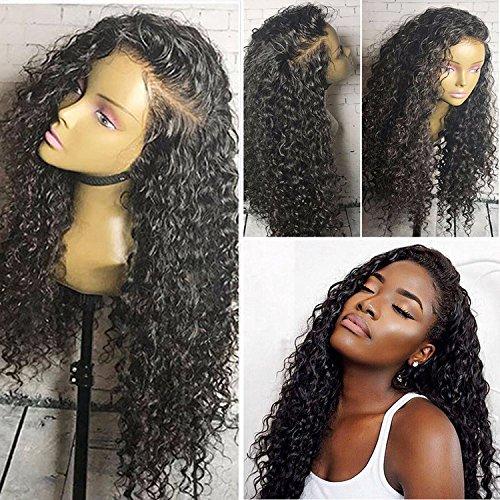 Helene Hair Charmant Vague Loose perruque Brésilien Virgin cheveux humains Cheveux sans colle complète Lace Wigs avec bébé cheveux pour les femmes noires 180% Densité ( 16 pouces)