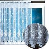 Gardine Jacquard Universalband Spitzenoptik Vorhang Blumenmuster weiß, Auswahl: 500 x 145 cm, Design: Monique