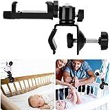 HelloCreate Babyfoon houder, 360 graden draaibare babyfoon mount plank, babyfoon camera beugel voor thuis kleuterschool