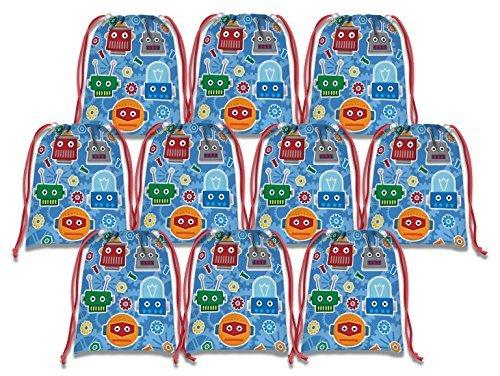 (Roboter Kordelzug Staubbeutel Kids Birthday Party Supplies Favor Taschen 10Stück)